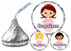 108 BAPTISM CHRISTENING PARTY FAVORS HERSHEY KISS KISSES LABELS - GIRL