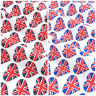 I Love Great Britain Union Jack Fabric per 1/2 metre/fat quarter 100 % cotton
