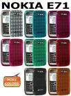 AMZER Luxe Argyle Soft Gel TPU Gloss Skin Fit Case Back Cover For Nokia E71