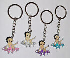 Betty Boop Keychain Keyring Pink White Purple or Blue Handcrafted $9.84 CAD on eBay