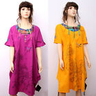 CX139 High Quality Fashion Casual Loose Fitting Gown Dress 100% Cotton M L XL