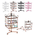 96 Holes Square Metal Earrings Jewelry Holder Display Rotating Stand Show Rack