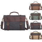 Fashion Men Crazy Horse Leather Laptop Shoulder Bag School Handbag Briefcase
