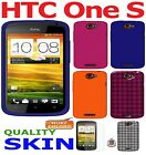 AMZER Silicone Jelly Skin Case Luxe Argyle Cover Screen Protector For HTC One S