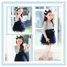 Easter Navy Blue Polkadot Wedding Party Flowers Girls Dresses SIZE 2,3,4,5,6,7T