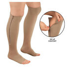 Zipper Compression Socks Support Stockings Leg Calf Men's Women's Sox (S-XXL)