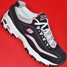 USED Women's SKECHERS Black/Pink D'LITES CENTENNIAL 11617 Sneakers Shoes