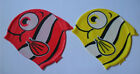 2 Lovely kid's Swimming caps for boys and girls-silicone swim caps for Kids