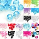 Wholesale Acrylic Transparent Beads Faceted Jewelry Making Bracelet 4/8/10/12mm