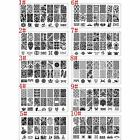 Manicure Nail Art Template Stamping Image Print Plate with Nail Stamper Scraper