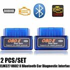 Bluetooth ELM327 OBD2 II Car Diagnostic Code Scan Tool For iPhone Android New HT