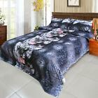 4pcs 3D Black Tiger Duvet Cover With Pillowcase Quilt Cover Set Queen Size G0R7