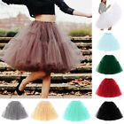 Retro Rockabilly Full Tutu Skirt Underskirt Swing wedding Petticoat 6 Layers