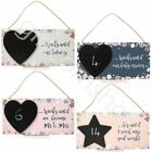 Hanging Wall Plaque Sign Chalkboard Calendar Gift  - Wedding - Countdown Gift