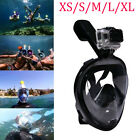 Swimming Full Face Mask Surface Diving Snorkel Scuba for GoPro XS/S/M/L/XL #ABCD