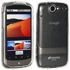 AMZER Silicone Skin Jelly Case Snap On Screen Guard For Google Nexus One PB99100