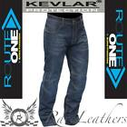 MERLIN ROUTE ONE OREGON BLUE ARAMID K.E.V.L.A.R LINED MOTORCYCLE JEANS REGULAR