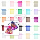 50/100/200pcs Premium Gift Organza Bags Wedding Favor Jewelery Pouches 17x23cm