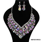 Indian Bollywood Style Fashion  Bridal Jewelry Necklace Set, Style NBY6319BAB