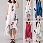 Womens Floral Long Maxi Dress Summer Ladies Beach Party Sundress Party Evening