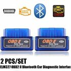 Bluetooth ELM327 OBD2 II Car Diagnostic Code Scan Tool For iPhone Android New EH