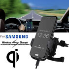 Qi Wireless Fast Charger Stand Car Dashboard Air Vent Mount For Samsung LG lot