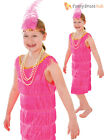 Girls Flapper Dress + Headpiece Kids Childs 1920s Charleston Fancy Dress Costume