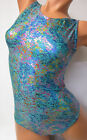FlipFlop Leos Gymnastics Leotard,  Gymnast Leotards - TEAL SPARKLE