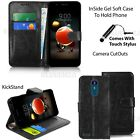For LG K8 2017 -Wallet Leather Case Flip Stand Book Cover + Screen Protector