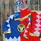 NEW Boys Kids Hero Red Blue Mighty Morphin Power Rangers Costume 3 Pcs Set 2-7Yr
