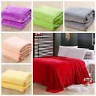 New Super Soft Luxurious Fleece Throw Blanket 3 Solid Colors Queen Size Warm image