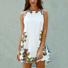 Women Summer Printed Casual Sleeveless Party Cocktail Beach Short Mini Dress
