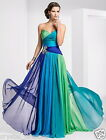 Long Chiffon Evening Formal Party Ball Prom Bridesmaid Dresses STOCK Size 6--24