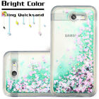 For Samsung Galaxy J7V /J7 Sky Pro Case Quicksand Clear Liquid Glitter TPU Cover