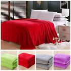 New Super Soft King Size Luxurious Fleece Throw Blanket 3 Solid Colors  Warm image