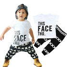 Toddler Kids Newborn Baby Boys T-shirt Tops+Pants Outfits Clothes 2PCS Set 0-36M
