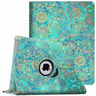 Apple iPad 2/3/4 Rotating Pattern Smart Case Stand Cover with Auto Wake/Sleep