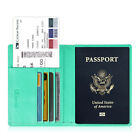 Leather RFID Blocking Passport Holder Travel Wallet Case Cover Securely Holds