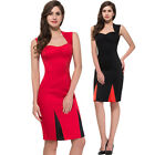 Vintage 1950s Wear To Work HOUSEWIFE Evening Cocktail Party Midi Pencil Dress --