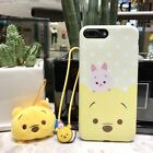 Hot Cartoon Animals Winnie the Pooh Duck Hand Strap Case for iphone 8 7plus 6 6s