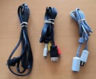 Sega Dreamcast Controllers,  power av extension cables,  blue black green