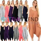 WOMENS HAREM JUMPSUIT LADIES STRAPPY CAMI LONG ALL IN ONE DRESS SUIT SUMMER NEW