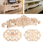 1/5X Wood Carved Onlay Applique Unpainted Furniture for Home Door Cabinet Decor