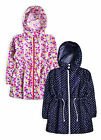 Girls Jacket New Kids Floral Printed Water Resistant Hooded Parka Age 2 - 13 Yrs