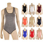 Внешний вид - Women Seamless Bodysuit Leotard Sleeveless Tank Top Racerback Slim Thong Spandex