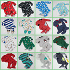 CARTERS NWT BOYS FOOTED PAJAMAS FLEECE OR COTTON 9M 12M 18M 24M 2T 3T U PICK NEW