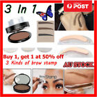 3 In 1 Makeup 3 Types Brow Stamp Long-Lasting Waterproof Eyebrow Powder AU