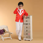 Boys Tuxedo Suits Children 5PCS Wedding Suit Kids Prom Suits Candy Color Terno
