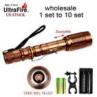 Wholesale Ultrafire 8000 LM CREE T6 LED Flashlight & 18650 Battery & Charger UP