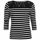 Rock and Rags Ladies Stripe T-Shirt Tee Top Clothing